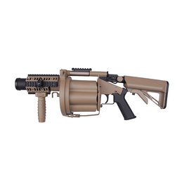 ICS 191 GLM drum revolver grenade launcher - TAN