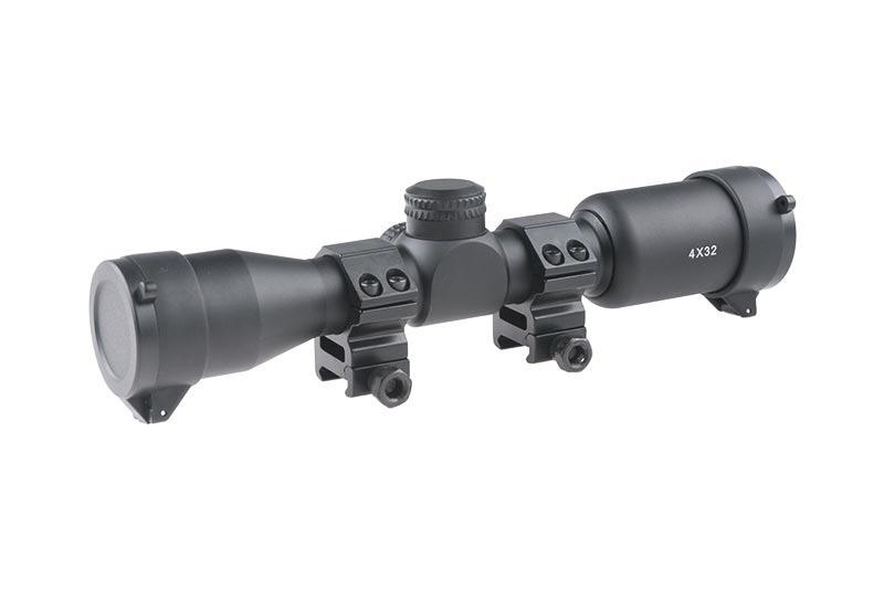 Theta Optics 4x32 AO Riflescope Weaver - BK