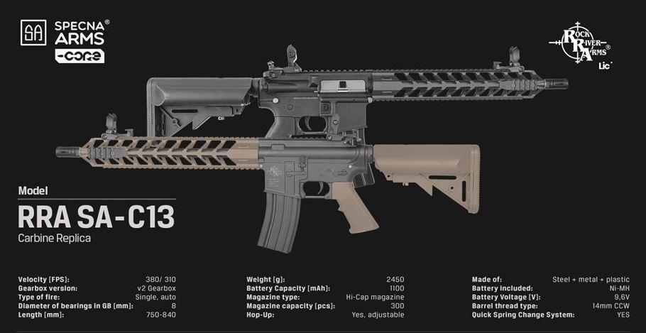 Specna Arms SA-C13 CORE M4 RIS AEG 1,33 Joule - TAN