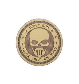 ACM Tactical Patch en caoutchouc 3D - Don't Run - TAN