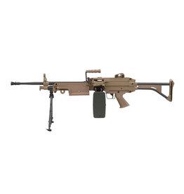 A&K LMG M249 MK1 AEG Maschinengewehr - TAN