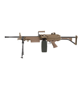 A&K LMG M249 MK1 AEG Mitrailleuse - TAN