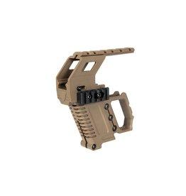 Ultimate Tactical G17/G18/G19 Tactical RAS Carbine Mount - TAN