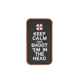 ACM Tactical 3D Rubber Patch - Keep Calm And Shoot - BK