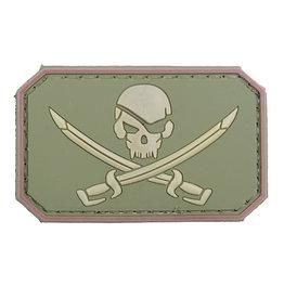 ACM Tactical 3D Rubber Patch Pirate Skull - OD