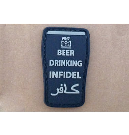 ACM Tactical 3D Rubber Patch Beer Drinking Infidel - BK
