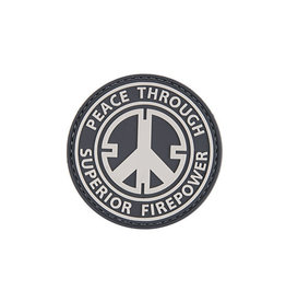 ACM Tactical 3D Rubber Patch - Peace Through Superior Firepower- BK
