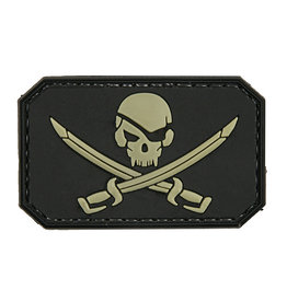 ACM Tactical 3D Rubber Patch Pirate Skull - BK