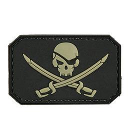 ACM Tactical Crâne de pirate en caoutchouc 3D - BK
