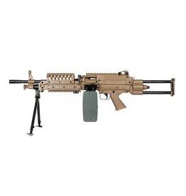 A&K LMG M249 SPW Para Mitrailleuse AEG - TAN