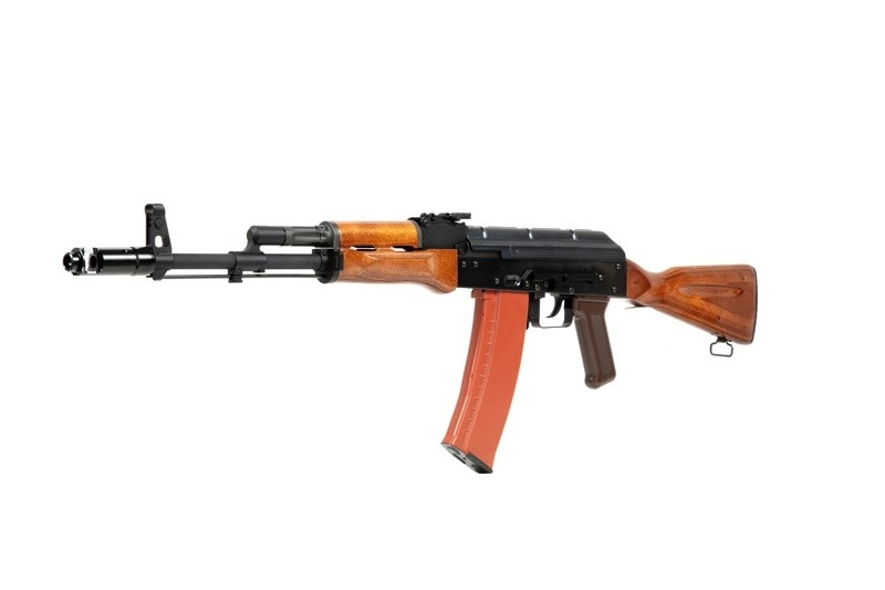 WE Tech AK74 Open Bolt GBBR - real wood