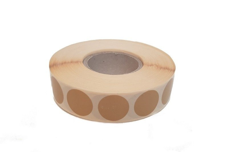 Range Solutions 2,000 pieces of IPSC round shooting plaster 20mm - brown