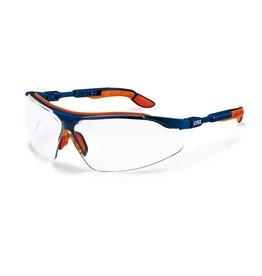 UVEX Lunettes de sécurité I-VO - bleu/orange/transparent