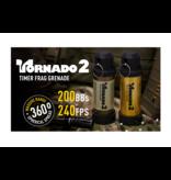 AirSoft Innovations Tornado 2 Timer Frag Granate FDE - 200 BBs