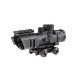 Theta Optics 4x32 RGB Riflescope Rhino Weaver - BK