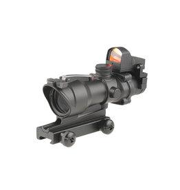 Theta Optics Green Dot 4x32C Type Acog & RMR Weaver - BK