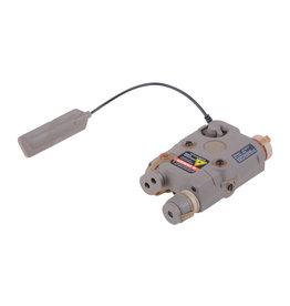 FMA AN/PEQ-15 Batteriebox inkl. Licht-/Laser Modul - Dark Earth