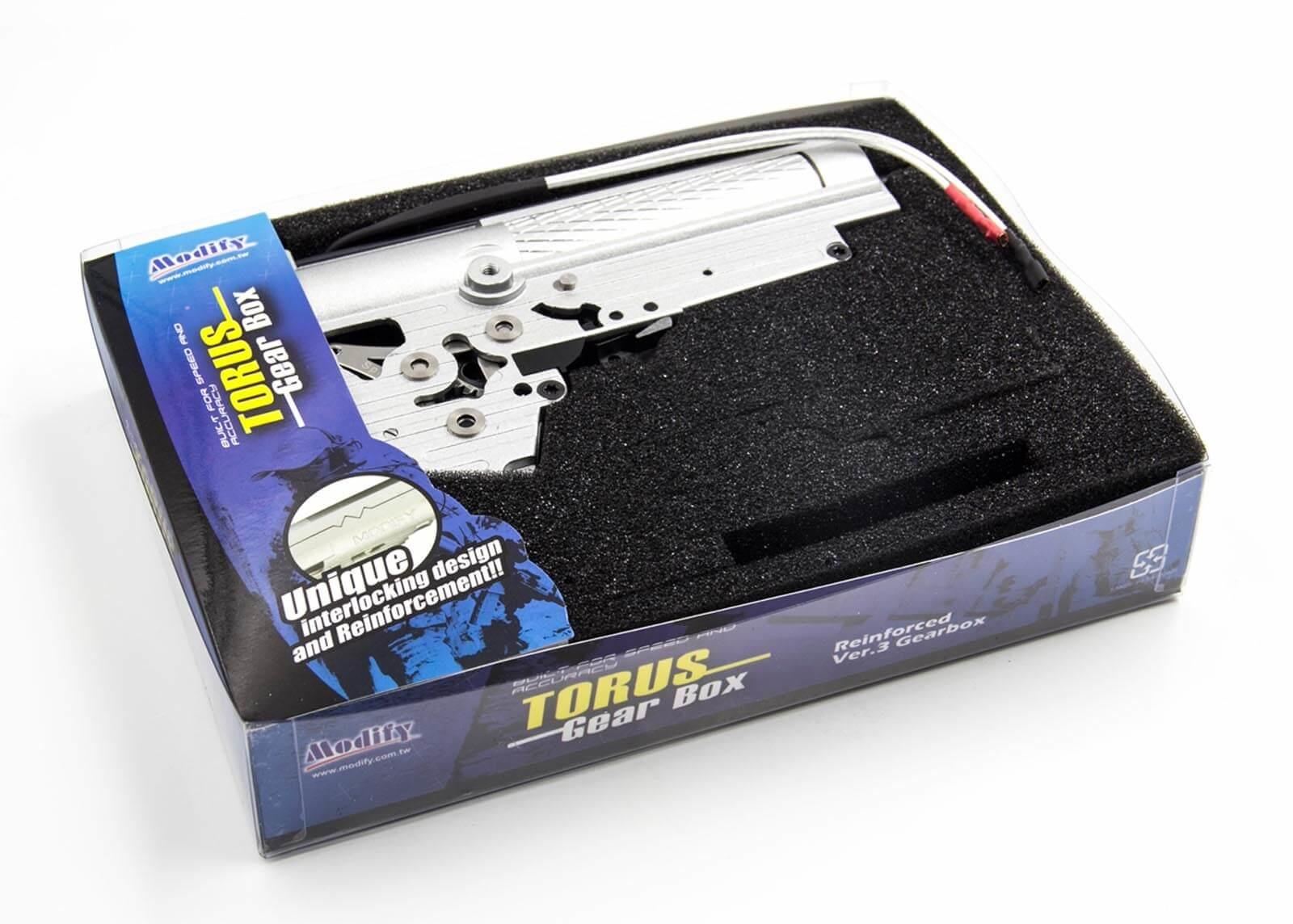 Modify AK47S Torus Gearbox Set Torque Type S130+, 8mm - front
