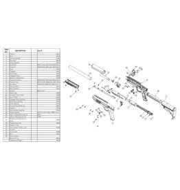 Valken Fusil Gotcha Paintball Kidz - pièces détachées diverses