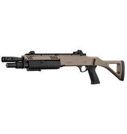BO Manufacture FABARM STF 12-11 Compact Spring 3-Burst Shotgun - TAN