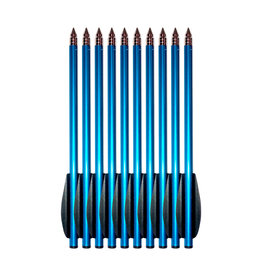 Steambow AR-6 Stinger aluminum practice arrows set - 10 pieces - blue