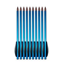 Steambow Ensemble de flèches d'entraînement en aluminium AR-6 Stinger - 10 pièces - bleu