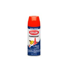 Krylon Spray de peinture fluorescent - Rouge / Orange
