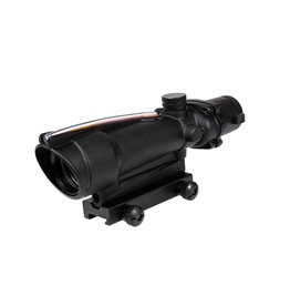 Theta Optics Red Dot 5x35 Typ Acog Weaver Red Fiber - BK