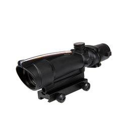Theta Optics Red Dot 5x35 Type Acog Weaver Red Fibre - BK