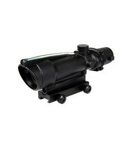 Theta Optics Red Dot 5x35 Type Acog Weaver Green Fiber - BK