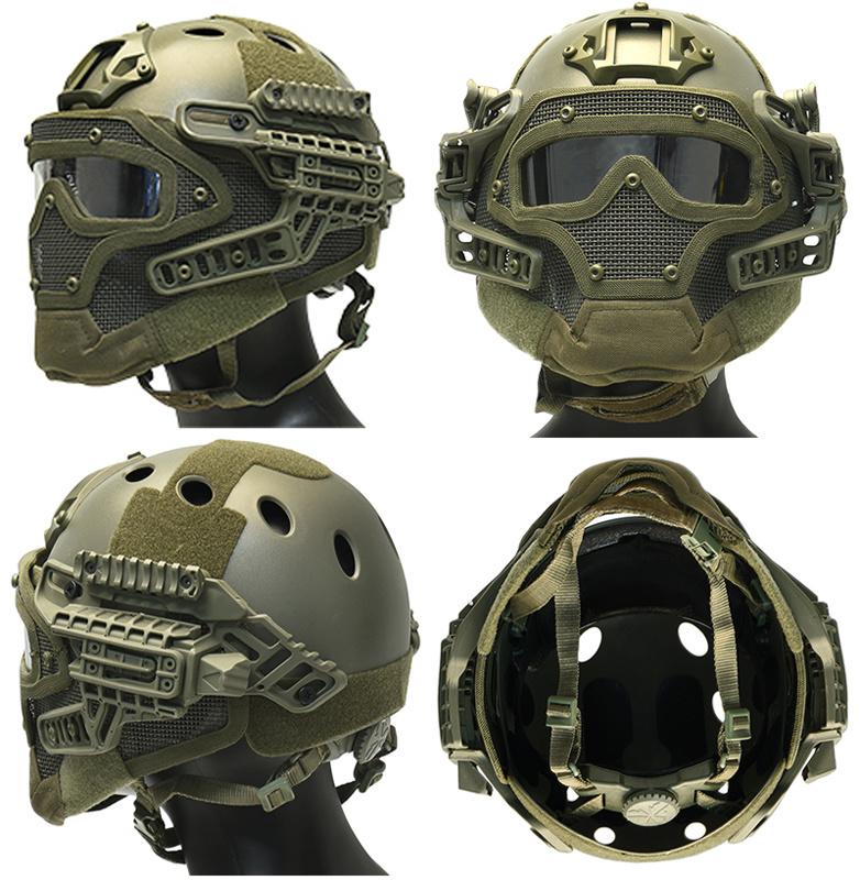 DragonPro Casque  G4 système FAST Para Jump - Highlander