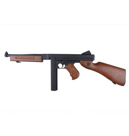 Snow Wolf SW-05 Thompson M1A1 AEG 1.49 Joule - BK / wood look