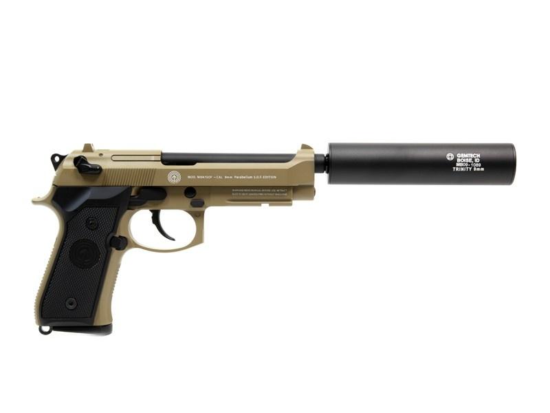 MadBull Gemtech Trinity 9mm Schalldämpfer Replika - BK
