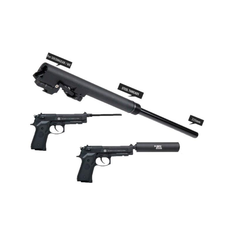 MadBull Assassins 235mm Laufset für Socom Gear M9/M9A1 - BK