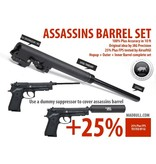 MadBull Assassins 235mm barrel set for Socom Gear M9/M9A1 - BK
