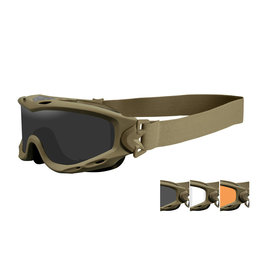 Wiley X SPEAR Smoke/Clear/Light Rust Schutzbrille - TAN