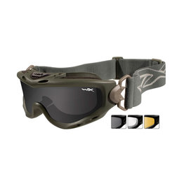Wiley X SPEAR Smoke/Clear/Light Rust safety glasses -FG