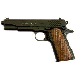 Well M1911 A1 Vollmetall Federdruck Pistole - 0,50 Joule - BK