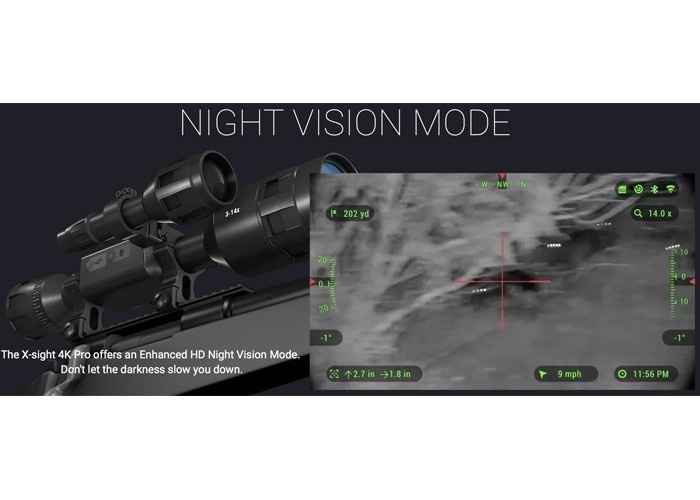 ATN X-SIGHT 4K PRO 3-14x Tag- und Nacht Zielfernrohr - BK