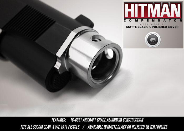 MadBull Socom Gear Hitman WE 1911 GBB Kompensator - Silber