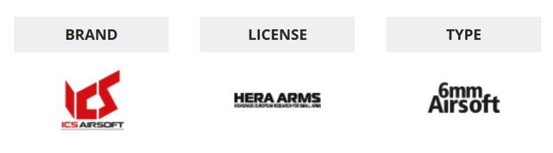 ASG ICS Hera Arms CQR  SSS EBB - 1,2 Joule - TAN