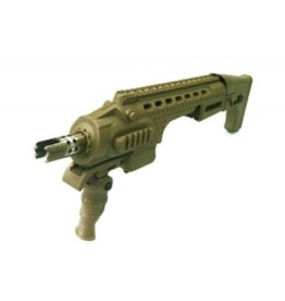 APS Glock 17/18C/19 Action Combat Carbine Conversion Kit - TAN