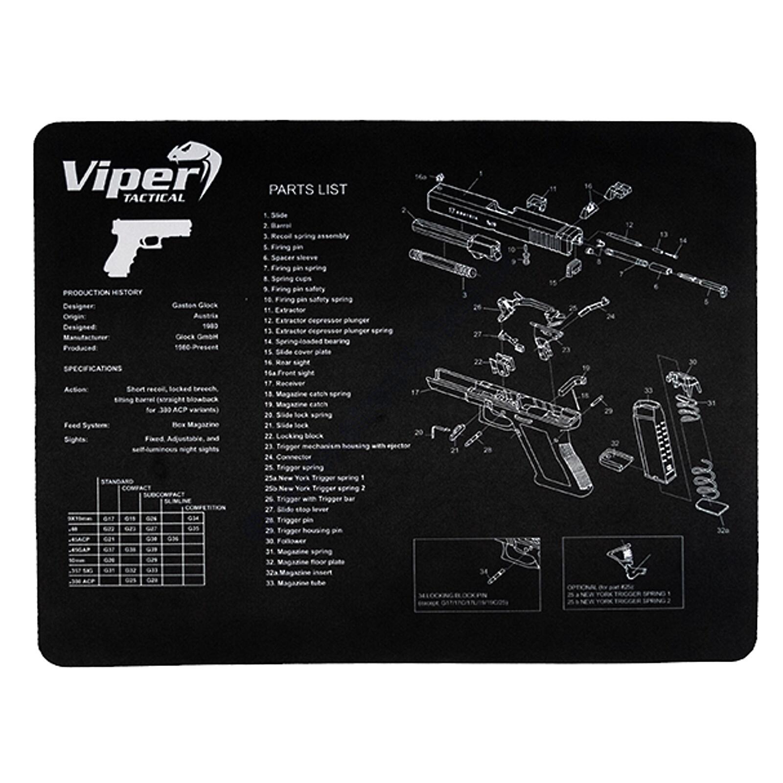 Viper Reinigungsunterlage Glock 50 x 37 cm