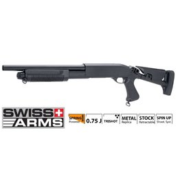 Swiss Arms Fusil à pompe Spring 3 Burst Metal 0.7 Joule - BK