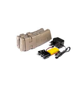 Evolution Double chargeur électrique M4 / M16 800 BBs - TAN