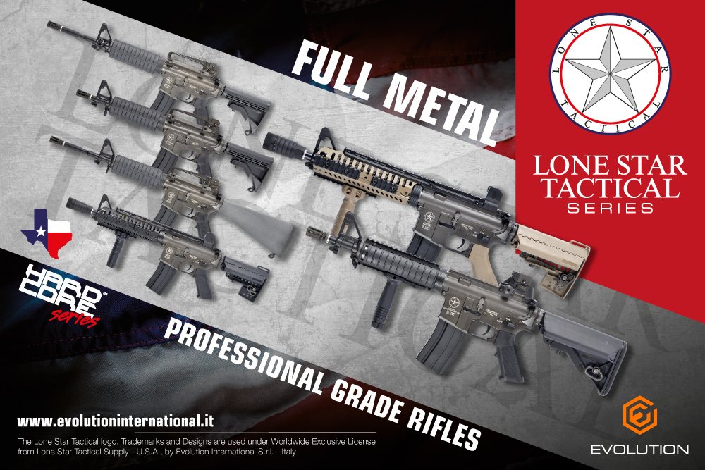 Evolution King Arms Lone Star Border Patrol SWAT SBR MosFet AEG 1.0 Joule - BK