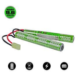 Valken Ni-Mh battery 9.6V 1.600 mAH - type nunchuck