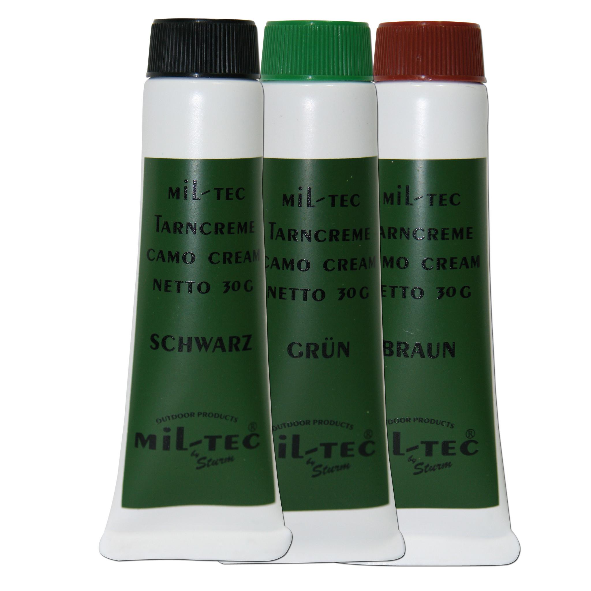 Mil-Tec Camo Face Paint Set- Olive, Brown, Black