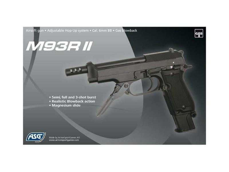ASG KWA M93R II 1.3 Joules FullAuto GBB - BK