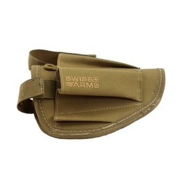 Swiss Arms Belt Holster with Accessory Pockets - TAN
